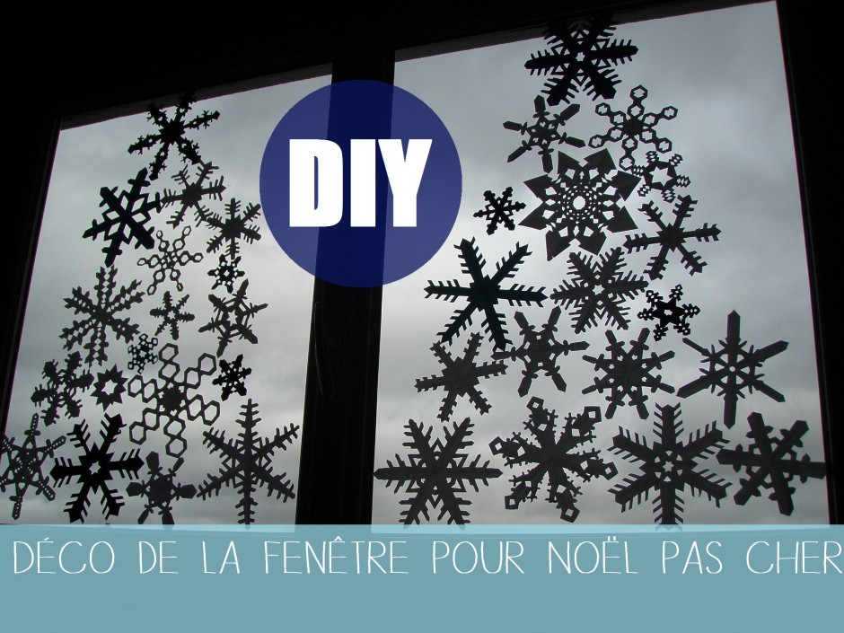 Diy d coration no l de la fen tre cameplait for Decoration fenetre noel diy