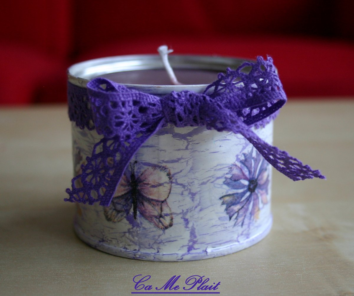 Bougie « Champ violet »