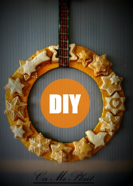 DIY de Noël:  La couronne de pains d'épices
